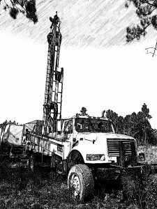Partridge well drilling rig