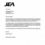 Perfect Safety Score from JEA